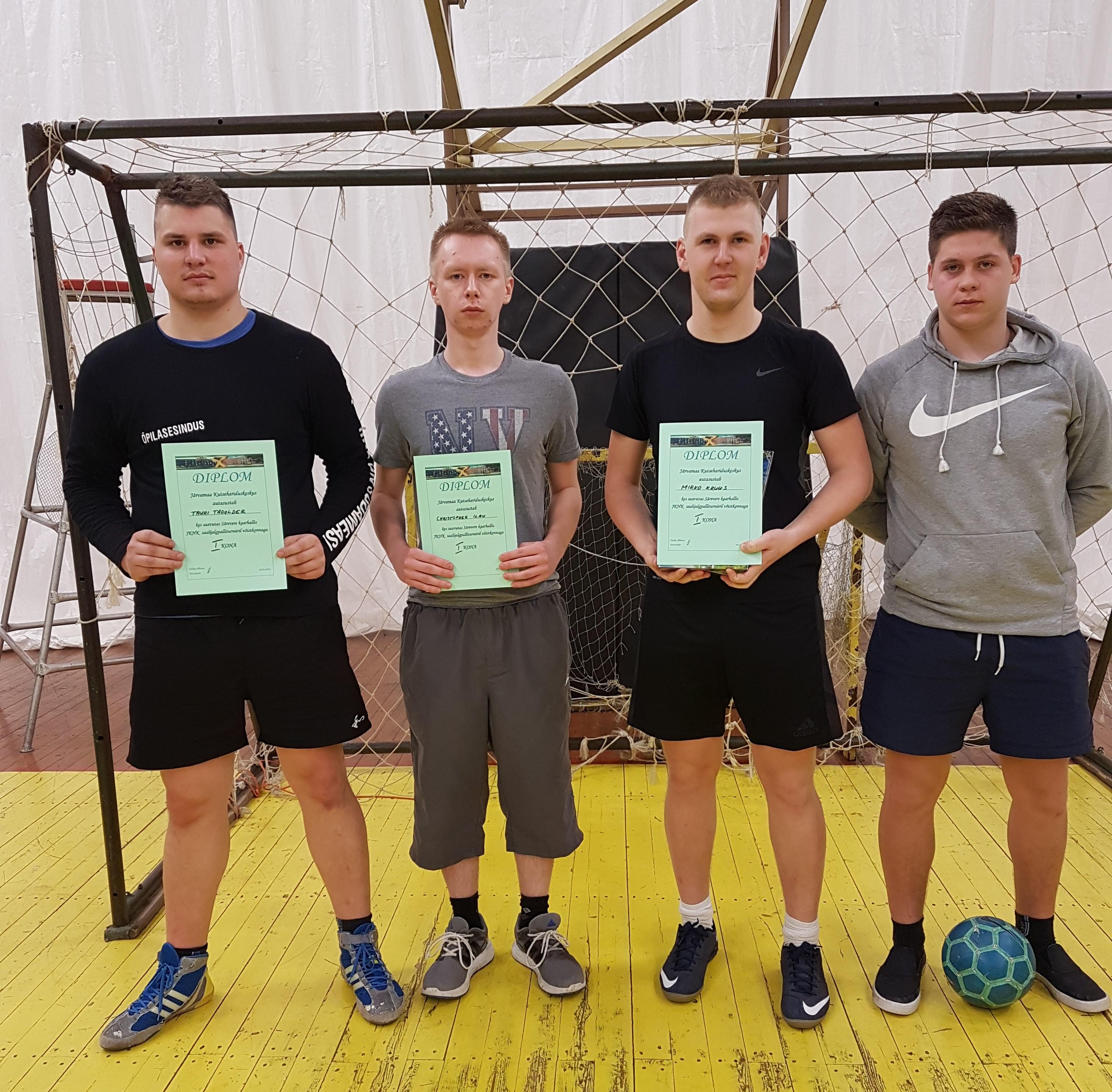 Pildil esikoha võistkond: Tauri Tadolder, Christopher Ilau, Mirko Kruus & Aleks Nasilnikov
