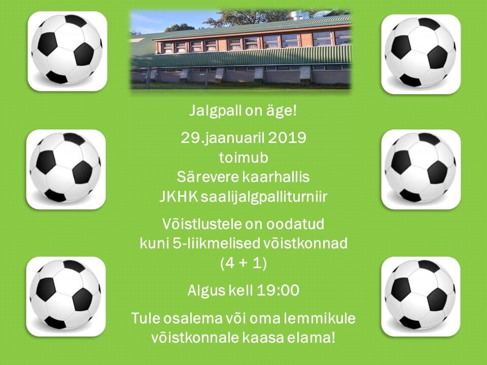 29.jaanuaril kell 19:00 toimub Särevere kaarhallis õpilastevaheline saalijalgpalliturniir! :)