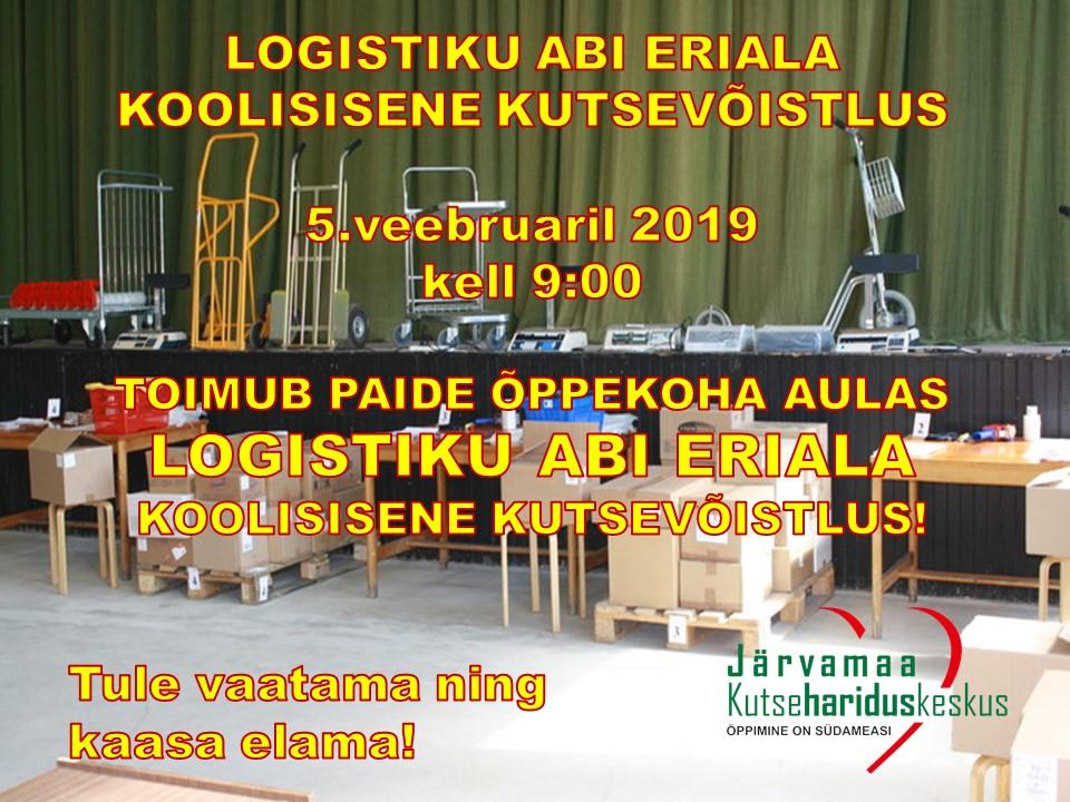 Logistiku abi eriala koolisisene kutsevõistlus Järvamaa Kutsehariduskeskuses.