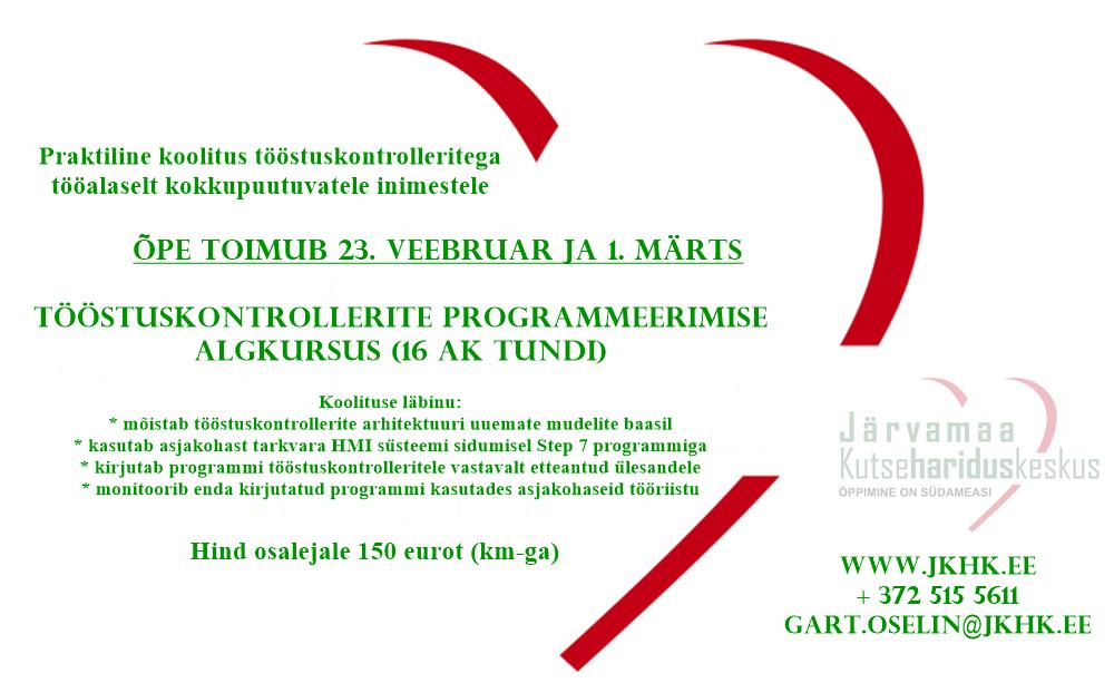 jkhk_õppimine_on_südameasi_täienduskoolitus_tööstuskontrollerite_programmeerimise_algkursus